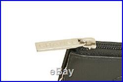 CHANEL Caviar Skin Zip Around Key Chain Purse F00474