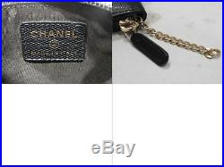 CHANEL Coin case with key ring leather