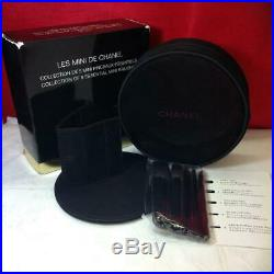 CHANEL Les Mini De Chanel Set makeup brushes Holiday Novelty Pouch Black 2015