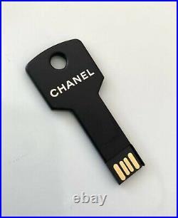 CHANEL USB 4GB VIP GIFT Novelty Key Shape Press Kit Paris BLEU USED