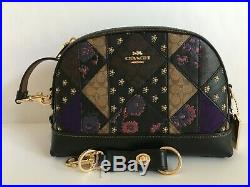 COACH (76672) Mixed Patchwork Dome Studded Crossbody & Valet Key Chain NWT$456