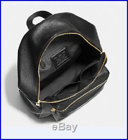 COACH Charlie BACKPACK F 38288 PEBBLE LEATHER Billie ruskin BLACK NWT