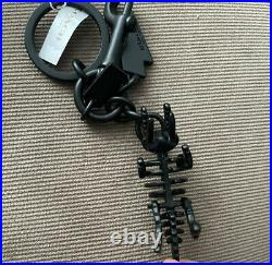 COACH REXY T-Rex Keychain Bag Charm BLACK COPPER NWT