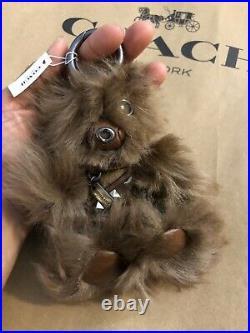 COACH STAR WARS Leather Chewbacca Bear Keychain Bag Charm NWT