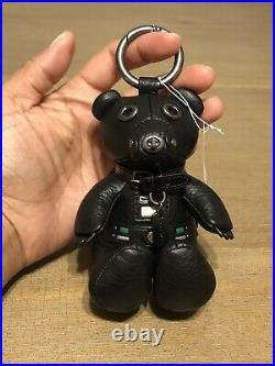 COACH STAR WARS Leather Darth Vader Bear Keychain Bag Charm NWT