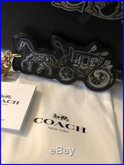COACH Tattoo Tote, Keychain, & Silk Scarf CHELSEA CHAMPLAIN Horse & Carriage NWT