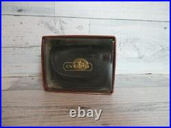 COACH Vintage Black Leather City Key Fob/Coin Purse New withTags MVC