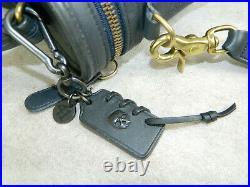 COACH Vintage Train Station/Trail Bag #9955 Brass Black WithNew Skull Keychain