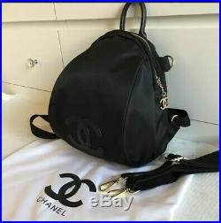 COCO VIP Luxury Nylon CC Logo Backpack Book Bag Gift Gold Keychain GWP