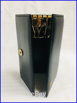 Cartier Black Glossy Leather Key Case L3000127 with Authenticity Card