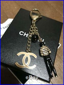 Chanel Bag charm Key Chain Coco Mark m59976591980 Black/Silver Pre-owned Japan