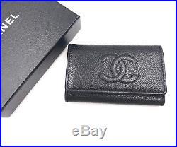 Chanel Black Caviar Key Chain Holder