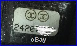 Chanel Caviar Black Camellia Key Holder O Case Zip Pouch Excellent Condition