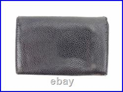 Chanel Key case Key holder COCO Black leather Woman unisex Authentic Used T8538