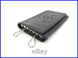 Chanel Key holder Key case COCO Black Woman Authentic Used Y5435