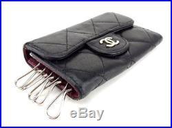 Chanel Keycase Keyholder Black Woman unisex Auth Used T6756