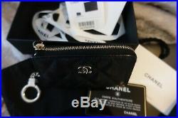 Chanel O-Key Holder Caviar Black Keychain Wallet NEW! Veau Calf Grain w Gold HW