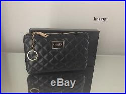 Chanel VIP Gift Black Quilted Coin/ Makeup Pouch/Bag with Keychain