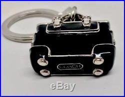 Coach 3D Key Fob Purse Charm Black Enamel RARE FIND