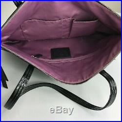 Coach Black Tote Bag Purse. Large. Shoulder Bag. Plastic COACH Keychain