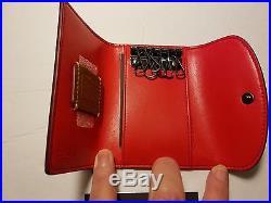 Coach Disney Key Case Black Leather