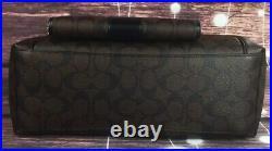 Coach F87776 Set 3PCS Ava Chain Signature Black Tote Wallet Key Fob