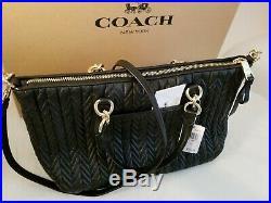 Coach Quilted Lthr Ally Crossbody/satchel73978+bonus Coach Keychainbnwt$618
