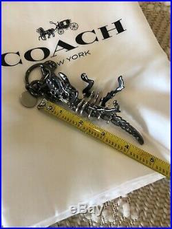 Coach Rexy Bag Charm Keychain Black