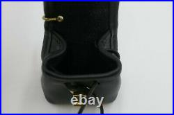 Coach Vintage Black Daypack Drawstring Leather Turnlock Doll Handbag Key Rare
