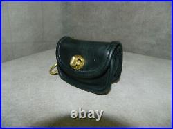 Coach Vintage'City Bag' Key Fob #7105 Black/Brass WithORIGINAL Mini Hang Tag/Key