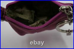 Coach Vintage Pink Leather Suede Buckled Strap Hobo Bag Doll Handbag Key Rare