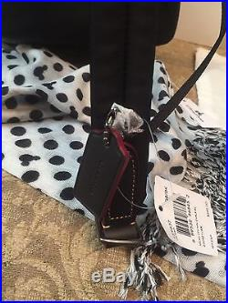 Coach X Disney Mini Charlie Backpack, Key Chain, Disney Scarf New