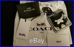 Coach x Disney Minnie Mouse Smack Black and White Keyfob/charm NWT