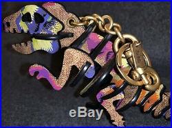 Coach x Kaffe REXY SIGNATURE Limited Edition Medium Bag Charm/Key Holder