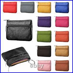 Coin money bag purse wallet pouch leather metal Zip closure men ladies UK colrCn