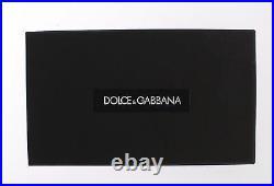 DOLCE & GABBANA Black Leather Miss BONITA Gold Finder Chain Keyring RRP $280