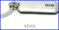 David Yurman Black Forged Carbon Key Chain / Sterling Silver NWT