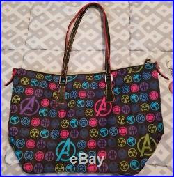 Disney Dooney & Bourke Avengers Shopper Tote Black free keychain