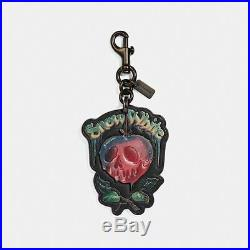 Disney X Coach Snow White Poison Apple A Dark Fairy Tale Leather Bag Charm #3253