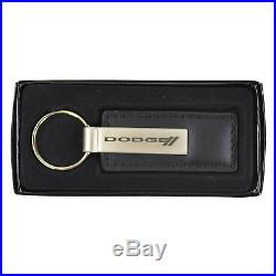 Dodge Racing Stripe Car Truck Front Back Rubber Floor Mats & Leather Keychain