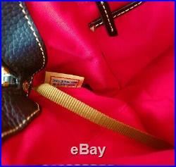 Dooney & Bourke Aubrey Pebble Leather Satchel Handbag & Key Chain