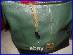 Dooney & Bourke Purse, Wallet, & keychain set Green/Black NWT
