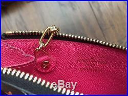 EUC Louis Vuitton Multicolor Cles Key holder Coin purse card Noir Black monogram