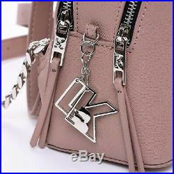 Exclusive Karl Lagerfeld x Falabella Backpack Double Zipper Pink Keychain KL