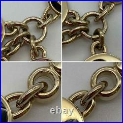 FENDI KEYRING BAG CHARM Heart Star Logo GOLD BLACK PINK MADE IN ITALY Unisex