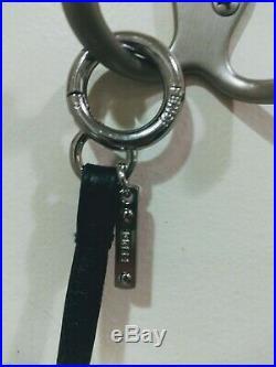Fendi new with box Karlito Fur Bag Charm Key Chain white black gray