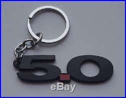 Ford Mustang GT V8 COYOTE 5.0 5.0 Logo Metal Black Red Emblem KeyChain Key