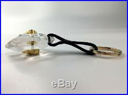 GIANNI VERSACE VINTAGE'90s CRYSTAL TYPE MEDUSA KEY CHAIN GLOSSY LEATHER ITALY