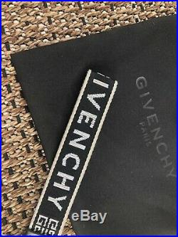 GIVENCHY Obsedia 4G Keyring Strap Lanyard Black White Italy Webbing Keychain