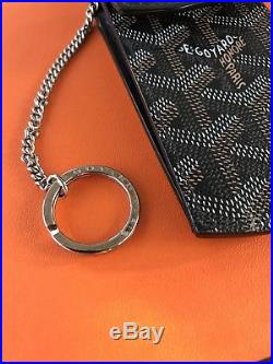 GOYARD PORTE CLES Key Chain Holder Wallet Belt Pouch Small Monogram Black